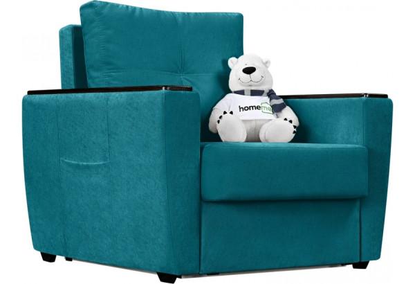 Кресло тканевое Майами бирюзовый (Велюр) - фото 1