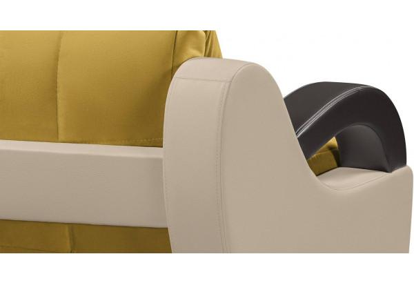 Кресло тканевое Мадрид оливковый (Велюр + Экокожа) - фото 5