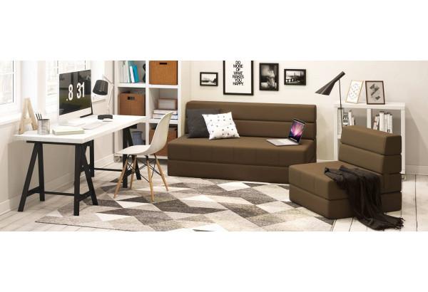 Кресло тканевое Форест тёмно-коричневый (Рогожка) - фото 10
