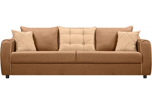 Диван тканевый прямой Флэтфорд коричневый/бежевый (Рогожка) - фото 4