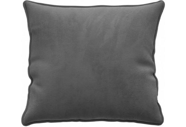 Декоративная подушка Портленд 41х41 см серый (Микровелюр) - фото 1