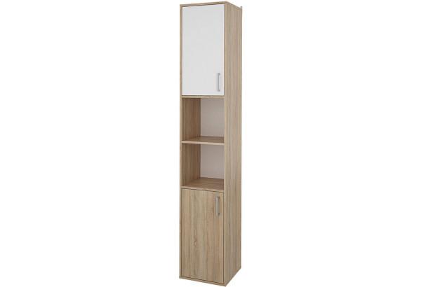 Шкаф распашной двухдверный Лакки (дуб сонома/белый) - фото 1