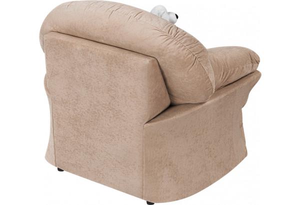 Кресло тканевое Ланкастер бежевый (Флок) - фото 4