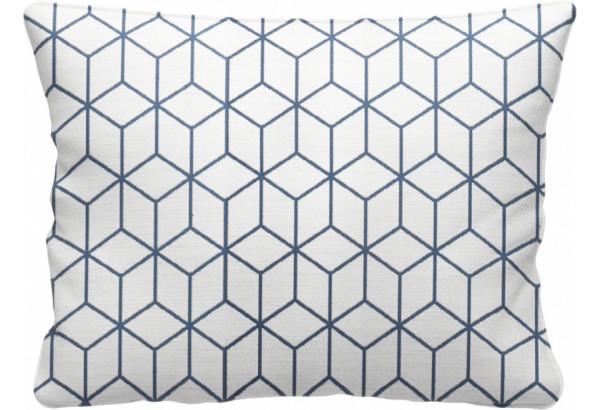 Декоративная подушка Портленд 60х48 см вариант №2 синий (Жаккард) - фото 1