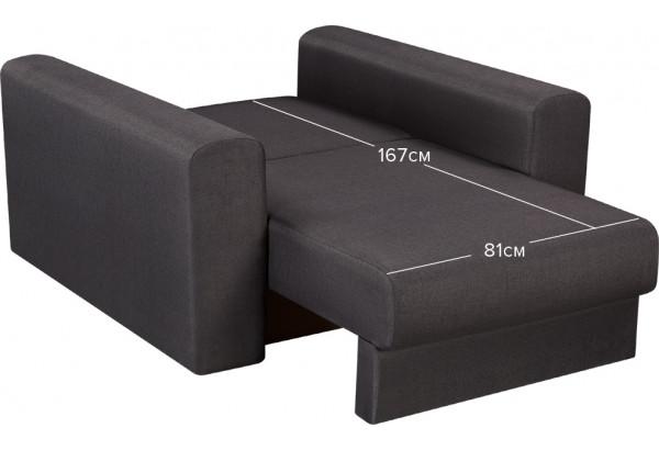 Кресло тканевое Медисон Вариант №2 80 см тёмно-серый (Рогожка) - фото 3