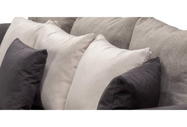 Диван тканевый прямой Медисон Вариант №4 темно-серый (Рогожка) - фото 7