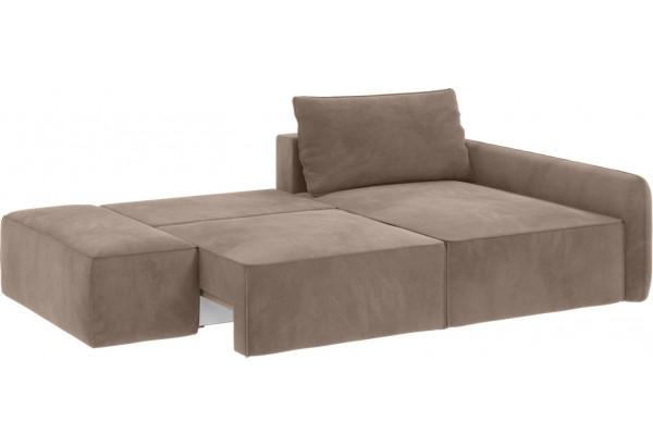 Модульный диван Портленд вариант №3 тёмно-бежевый (Микровелюр, правый) - фото 3