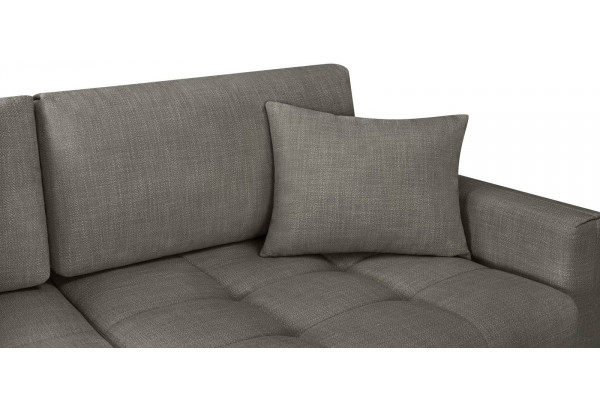 Модульный диван Брайтон вариант №1 серый (Рогожка) - фото 8