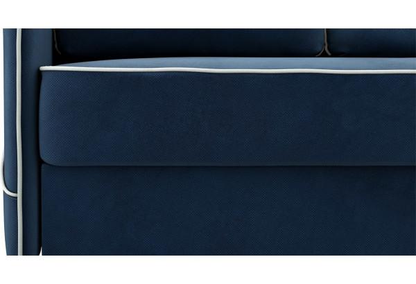 Диван тканевый угловой Слим темно-синий (Велюр, правый) - фото 6