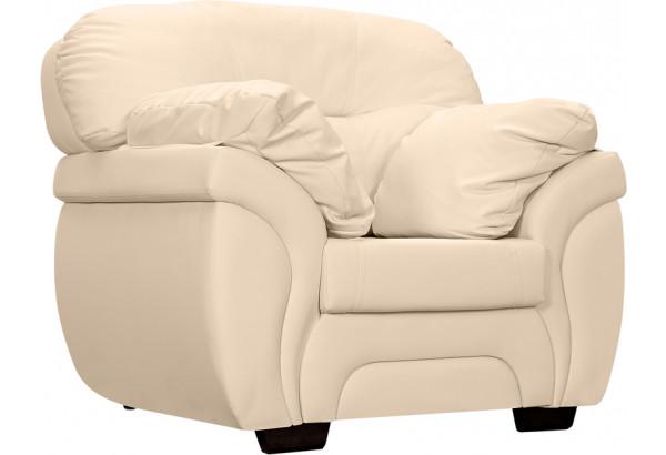 Кресло кожаное Бристоль Бежевый (Кожаное изделие) - фото 1