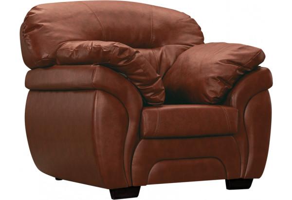 Кресло кожаное Бристоль Коричневый (Кожаное изделие) - фото 1