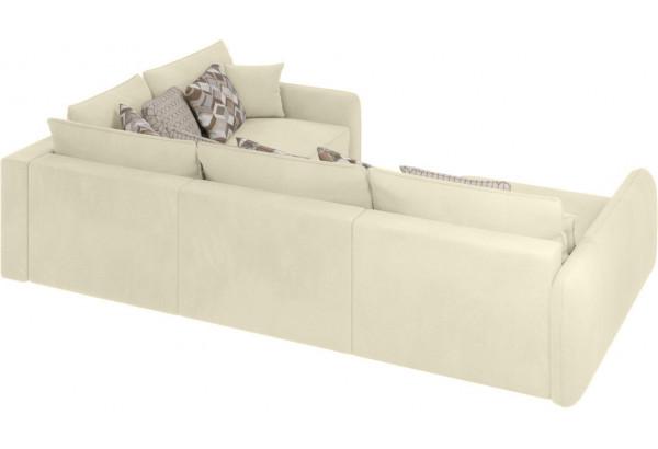 Модульный диван Портленд вариант №8 молочный (Микровелюр, правый) - фото 3