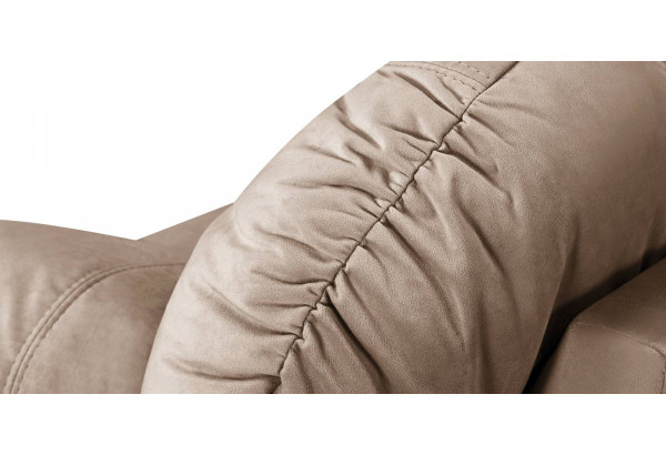 Диван тканевый прямой Ланкастер коричневый (Велюр) - фото 7