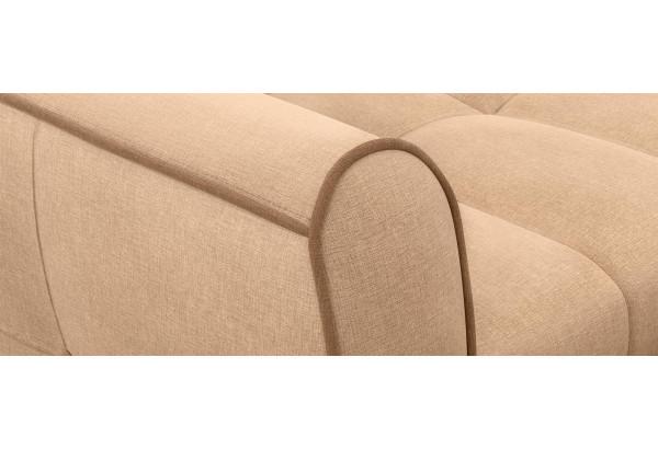 Диван тканевый прямой Флэтфорд-2 140 см бежевый/коричневый (Рогожка) - фото 6