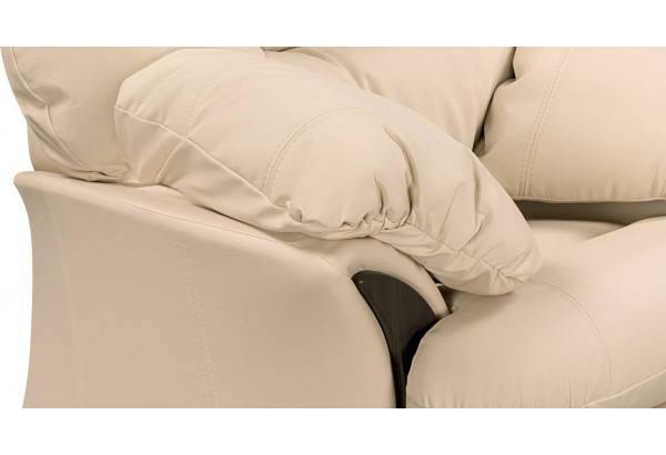 Кресло кожаное Ланкастер Бежевый (Кожаное изделие) - фото 5