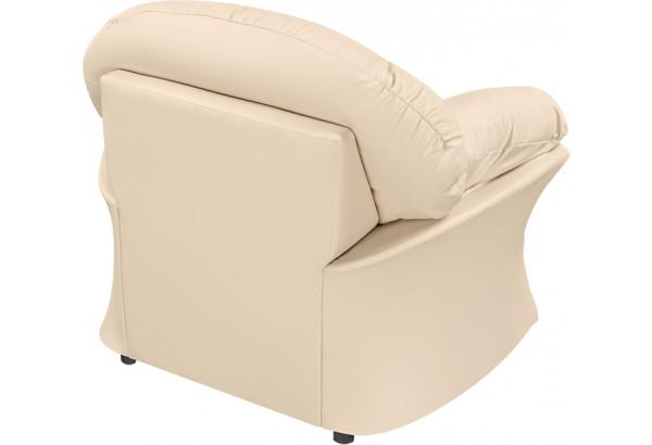 Кресло кожаное Ланкастер Бежевый (Кожаное изделие) - фото 4