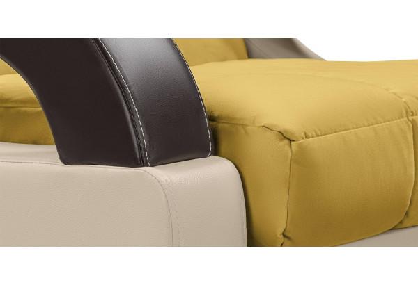 Кресло тканевое Мадрид оливковый (Велюр + Экокожа) - фото 7