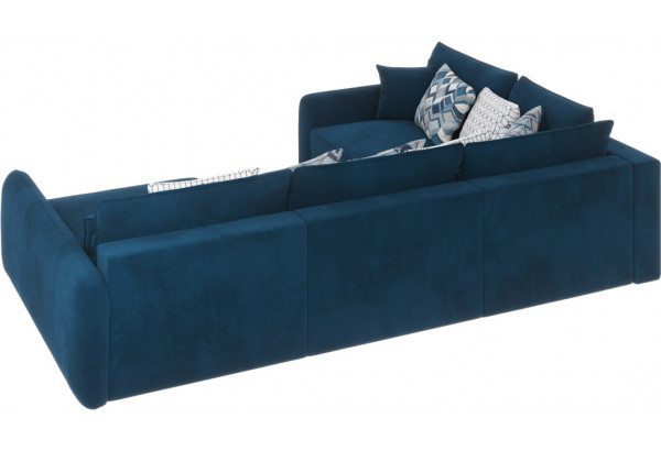 Диван тканевый угловой Портленд вариант №8 Светло-синий (Микровелюр, Левый) - фото 4