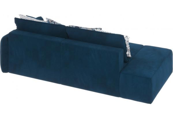 Диван тканевый прямой Портленд вариант №2 светло-синий (Микровелюр, правый) - фото 3