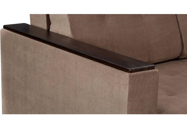 Диван тканевый прямой Атланта Люкс светло-коричневый (Велюр) - фото 8