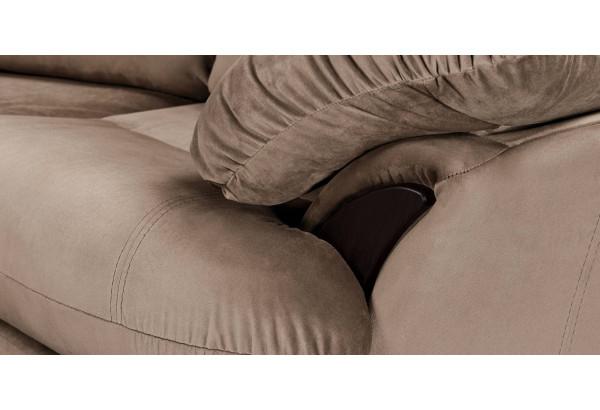 Диван тканевый угловой Ланкастер коричневый (Велюр, правый) - фото 7