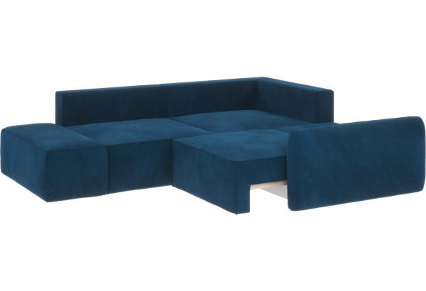 Диван тканевый угловой Портленд вариант №1 светло-синий (Микровелюр, правый) - фото 3