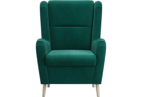 Кресло тканевое Грейс тёмно-зеленый (Велюр) - фото 2