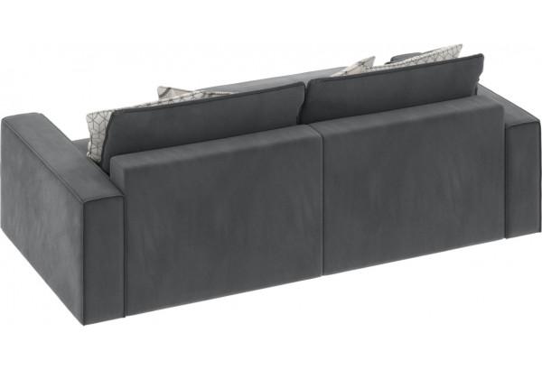 Диван тканевый угловой Корсо вариант №3 серый (Микровелюр, левый) - фото 5