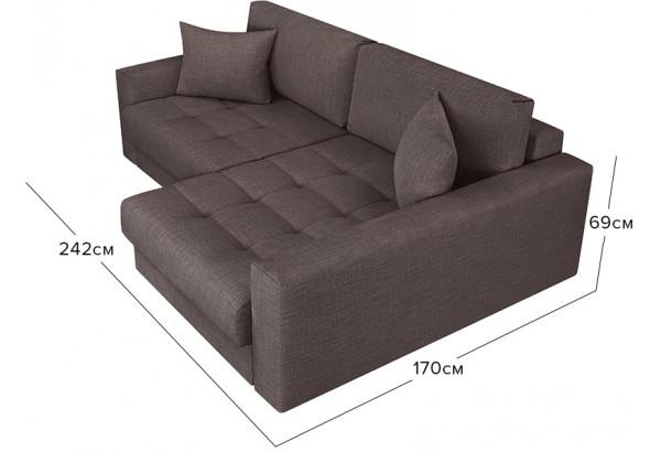 Модульный диван Брайтон вариант №2 графитовый (Рогожка) - фото 2