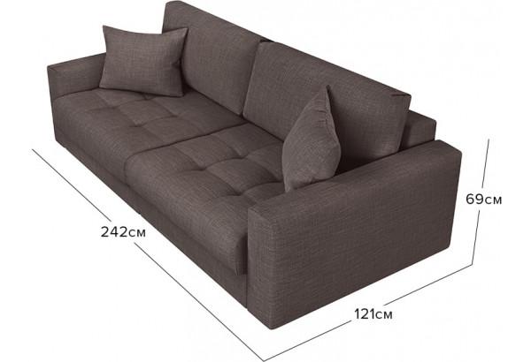 Модульный диван Брайтон вариант №1 графитовый (Рогожка) - фото 2