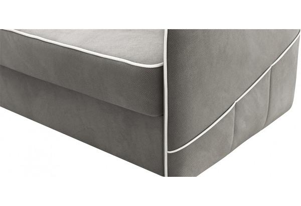 Диван тканевый угловой Слим темно-серый (Велюр, левый) - фото 7
