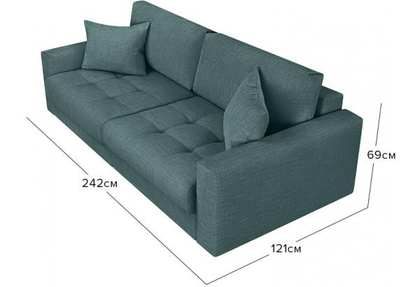 Модульный диван Брайтон вариант №1 голубой (Рогожка) - фото 2