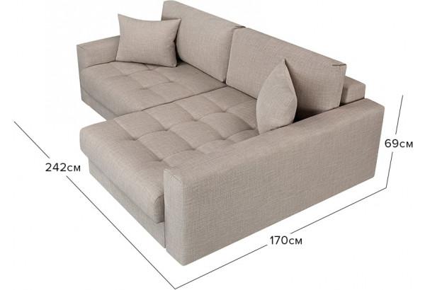 Модульный диван Брайтон вариант №2 бежевый (Рогожка) - фото 2