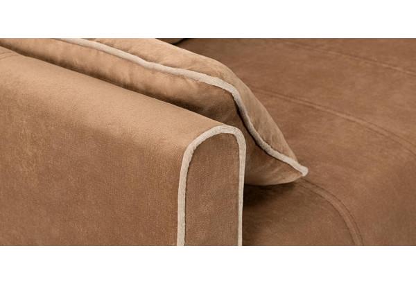 Диван тканевый прямой Римини коричневый (Вельвет) - фото 6