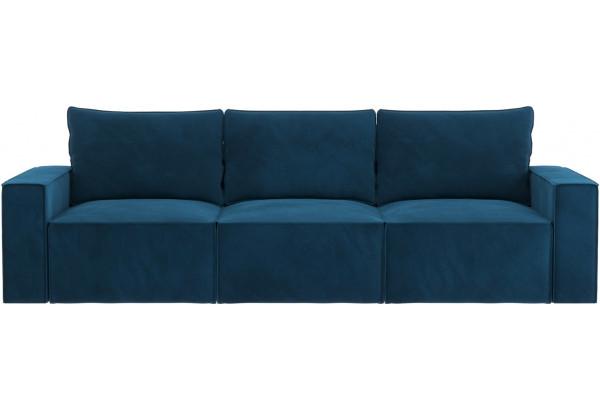 Диван тканевый прямой Корсо вариант №2 светло-синий (Микровелюр) - фото 3