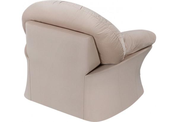 Кресло тканевое Ланкастер бежевый (Велюр) - фото 4