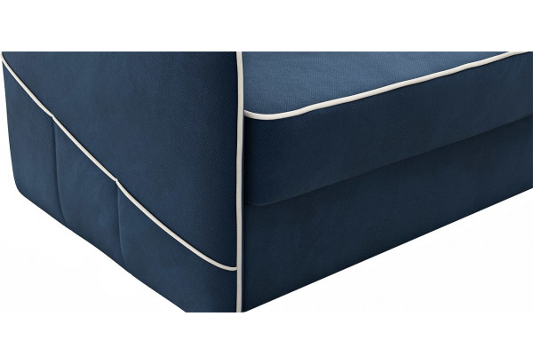 Диван тканевый угловой Слим темно-синий (Велюр, правый) - фото 7
