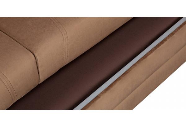 Диван тканевый угловой Бристоль коричневый (Велюр, правый) - фото 10