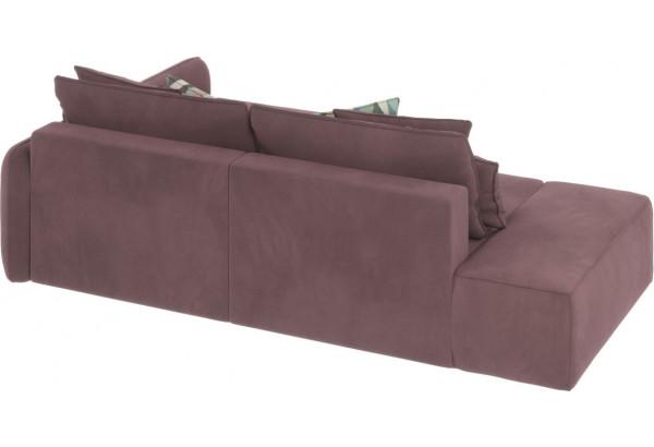 Диван тканевый угловой Портленд вариант №3 розово-серый (Велюр, правый) - фото 5