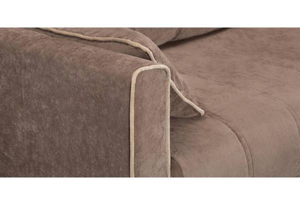 Диван тканевый прямой Римини темно-коричневый (Вельвет) - фото 6