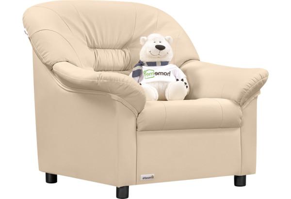 Кресло кожаное Женева Бежевый (Кожаное изделие) - фото 1