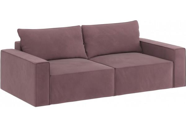 Диван тканевый прямой Корсо вариант №1 розово-серый (Велюр) - фото 4