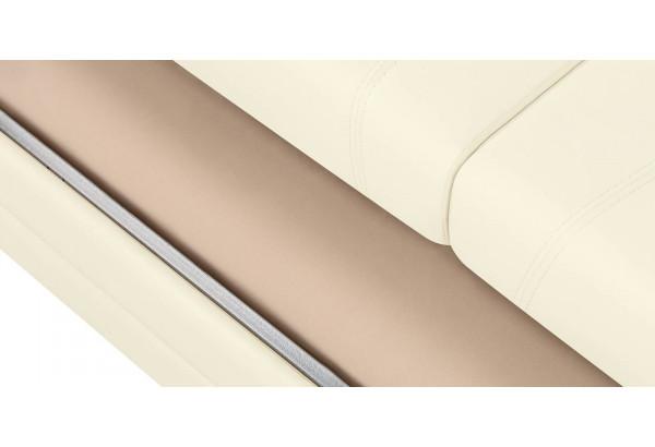 Диван тканевый угловой Бристоль молочный (Экокожа, правый) - фото 9