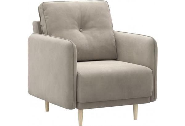 Кресло тканевое Голливуд серый (Велюр) - фото 1