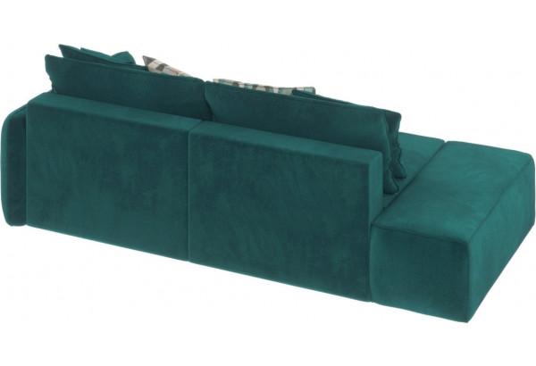 Диван тканевый прямой Портленд вариант №2 изумрудный (Микровелюр, правый) - фото 4