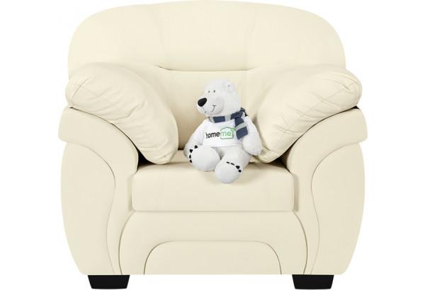 Кресло тканевое Бристоль молочный (Экокожа) - фото 3