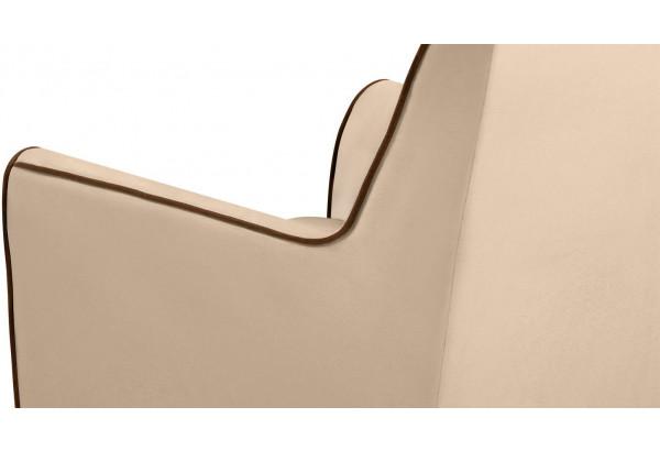 Кресло тканевое Флэтфорд бежевый/коричневый (Велюр) - фото 8
