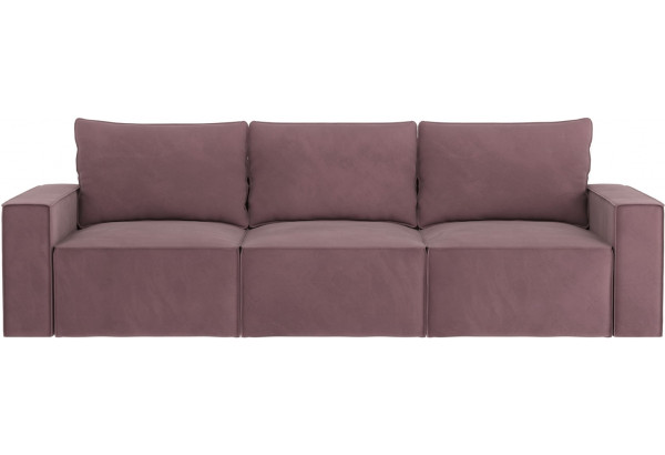 Диван тканевый прямой Корсо вариант №2 Розово-серый (Велюр) - фото 3