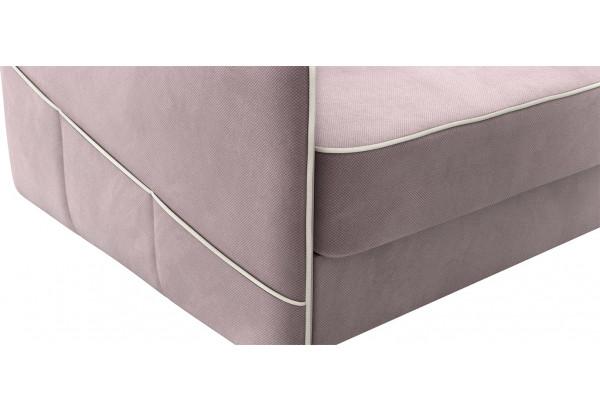 Диван тканевый прямой Слим светло-розовый (Велюр) - фото 7