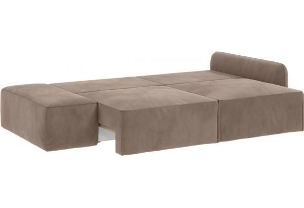 Модульный диван Портленд вариант №2 тёмно-бежевый (Микровелюр) - фото 3